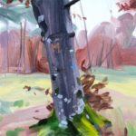 Forêts - Olivier Morel - Forêt 38, acrylique/toile, 40 x 40 cm, 2018