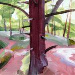 Forêts - Olivier Morel - Forêt 39, acrylique/toile, 40 x 40 cm, 2018