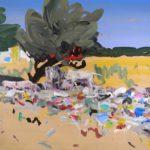 1001 nuits, Olivier Morel - Porcs et vaches, acrylique/toile, 114 x 146 cm, 2011