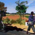 1001 nuits, Olivier Morel - Huit, acrylique/toile, 89 x 116 cm, 2011