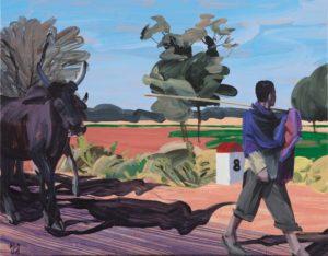 1001 nuits, artiste Olivier Morel - Huit (Colas), acrylique/toile, 114 x 146 cm, 2011
