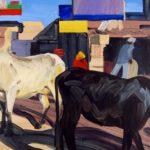 1001 nuits, Olivier Morel - Sans queue ni tête, acrylique/toile, 89 x 116 cm, 2011