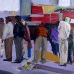 1001 nuits, Olivier Morel - Butagaz, acrylique/toile, 130 x 177 cm, 2011