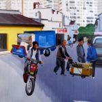1001 nuits, Olivier Morel - Shngh 2, acrylique/toile, 130 x 162 cm, 2011