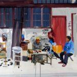 1001 nuits, Olivier Morel - Shngh 3, acrylique/toile, 114 x 162 cm, 2011