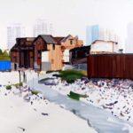 1001 nuits, Olivier Morel - Shngh 6, acrylique/toile, 89 x 116 cm, 2011