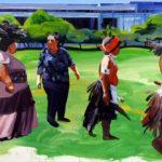 Olivier Morel - Le nouveau monde, acrylique/toile,130 x 195 cm, 2011