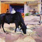 1001 nuits, Olivier Morel - Nwlgrth 3, acrylique/toile, 97 x 130 cm, 2011