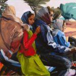 1001 nuits, Olivier Morel - Moto, acrylique/toile, 97 x 130 cm, 2011