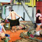 1001 nuits, Olivier Morel - Washi b, acrylique/toile, 150 x 210 cm, 2012