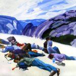Olivier Morel - Nouveau monde 2, acrylique/toile, 150 x 210 cm, 2012