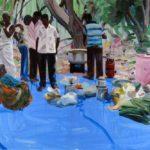 1001 nuits, Olivier Morel -Le déjeuner sur l'herbe , acrylique/toile, 130 x 195 cm, 2012