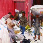 1001 nuits, Olivier Morel - Recyclage, acrylique/toile, 130 x 162 cm, 2012
