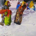 1001 nuits, Olivier Morel - 1001 nuits, acrylique/toile, 130 x 162 cm, 2012