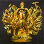 1001 nuits, Olivier Morel - Avalokiteshvara, acrylique/toile, 150 x 150 cm, 2013