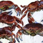 1001 nuits, Olivier Morel - Crabes , acrylique/toile, 130 x 195 cm, 2013