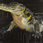 1001 nuits, Olivier Morel - Crocodile, acrylique/toile, 90 x 103 cm, 2013