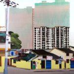 1001 nuits, Olivier Morel - Shngh 7 1e, acrylique/toile, 150 x 210 cm, 2013