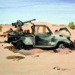 1001 nuits, Olivier Morel - La traversée du désert, acrylique/toile, 81 x 100 cm, 2013