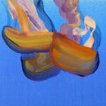 Nouveau monde, Olivier Morel - Méduses 6, acrylique/toile, 33 x 41 cm, 2013