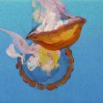 Nouveau monde, Olivier Morel - Méduses 9, acrylique/toile, 33 x 41 cm, 2013