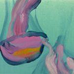 Nouveau monde, Olivier Morel - Méduses 8, acrylique/toile, 33 x 41 cm, 2013