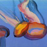 Nouveau monde, Olivier Morel - Méduses 11, acrylique/toile, 33 x 41 cm, 2013