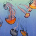 Nouveau monde, Olivier Morel - Méduses 15, acrylique/toile, 65 x 81 cm, 2013