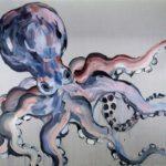 1001 nuits, Olivier Morel - Pieuvre 1, acrylique/toile, 150 x 200 cm, 2013