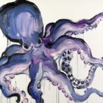 1001 nuits, Olivier Morel - Pieuvre 3, acrylique/toile, 114 x 162 cm, 2013