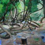 1001 nuits, Olivier Morel - Le feu, acrylique/toile, 130 x 89 cm, 2014