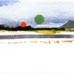 Olivier Morel - Le nouveau monde 3, aquarelle/papier, 13 x 16,5 cm, 2014