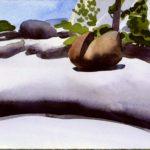 Olivier Morel - Le nouveau monde 5, aquarelle/papier, 13 x 16,5 cm, 2014