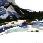 Olivier Morel - Le nouveau monde 7, aquarelle/papier, 13 x 16,5 cm, 2014