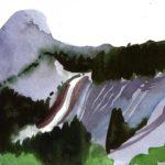 Olivier Morel - Le nouveau monde 8, aquarelle/papier, 13 x 16,5 cm, 2014