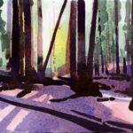 Olivier Morel - Le nouveau monde 9, aquarelle/papier, 13 x 16,5 cm, 2014