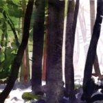 Olivier Morel - Le nouveau monde 10, aquarelle/papier, 13 x 16,5 cm, 2014