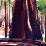 Olivier Morel - Le nouveau monde 12, aquarelle/papier, 13 x 16,5 cm, 2014
