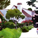 Olivier Morel - Le nouveau monde 21, aquarelle/papier, 13 x 16,5 cm, 2014