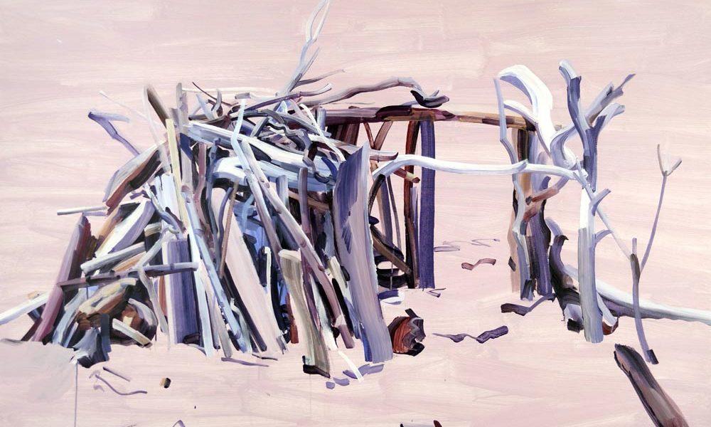 Nouveau monde, Olivier Morel - Maison 1, acrylique/toile, 130 x 162 cm, 2015