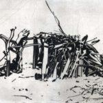Nouveau monde, Olivier Morel - Maison 1, pointe sèche/cuivre, 25 x 33 cm, 2015
