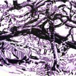 Forêts - Olivier Morel, Forêt nrv 5, acrylique/papier, 25 x 32 cm, 2018