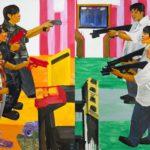 Olivier Morel, Japon, peinture, La guerre des sexes