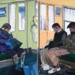Olivier Morel, Japon, peinture, Métro