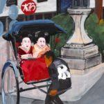 Olivier Morel, Japon, peinture, Pousse-pousse