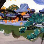 Olivier Morel, Japon, peinture, Byodo-in