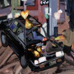 Nocturnes, Olivier Morel, Japon, peinture, Taxi-coeur