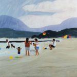 Olivier Morel, Japon, peinture, Hagi, plage