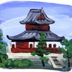 Olivier Morel, Japon, peinture, Kenninji-temple
