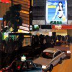 Nocturnes, Olivier Morel, Japon, peinture, Nuit Shinjuku Lumine